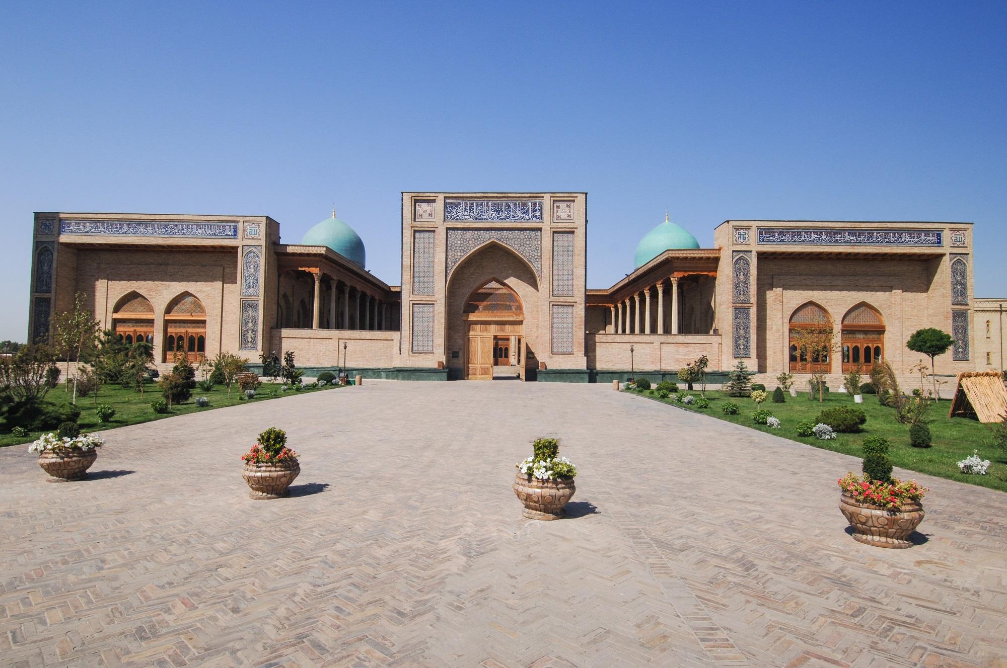 External review of restored architecture of ancient buildings in Tashkent, Uzbekistan
