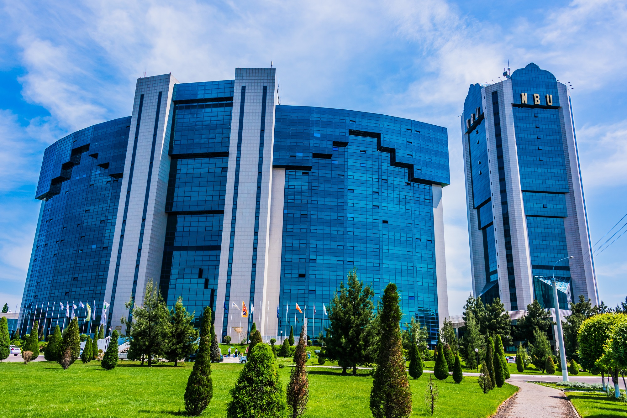 TASHKENT, UZBEKISTAN - APR 29, 2019: International Business Center in Taskent, Uzbekistan