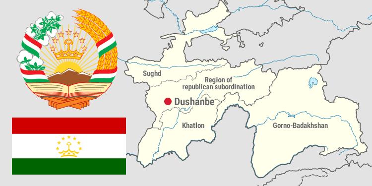 tajikistan map symbols