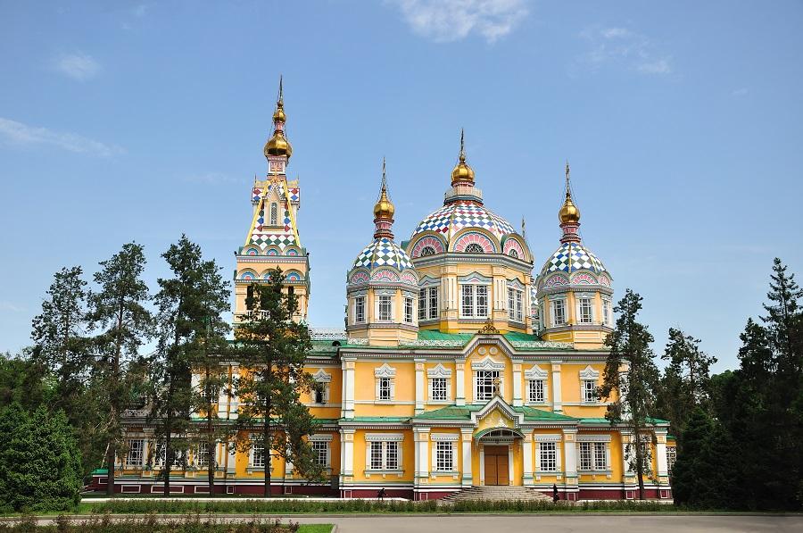 The Ascension (Voznesensky) Cathedral in Almaty, Kazakhstan. May, 2013